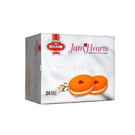 Kolson Jam Hearts Vanilla Cream With Jam 24 Ticky