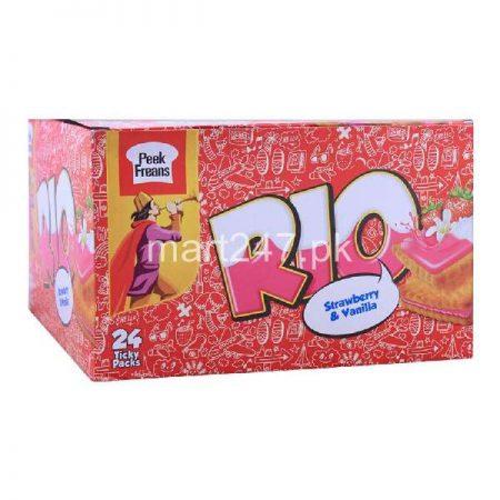 Peek Freans Rio Strawberry & Vanilla 24 Ticky Packs