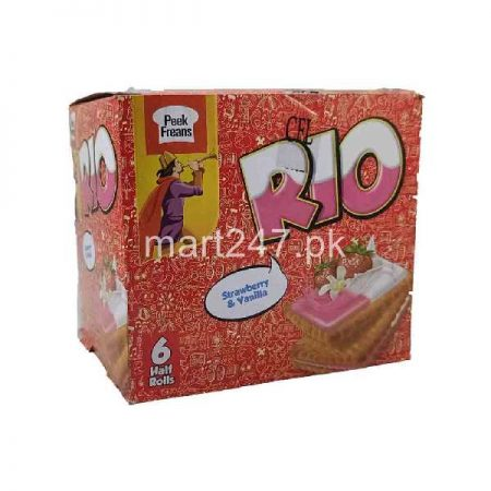 Peek Freans Rio Strawberry & Vanilla 6 Half Rolls