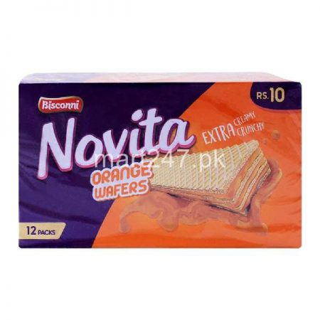Bisconni Novita Orange Wafers 12 Packs