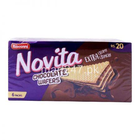 Bisconni Novita Chocolate Wafers 6 Half Roll