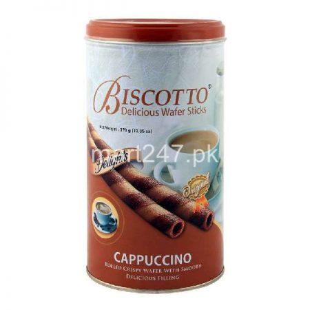 Delight Biscotto Wafers Sticks 370 G Cappuccino