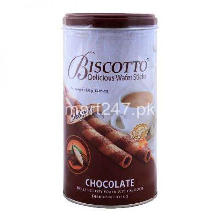 Delight Biscotto Wafers Sticks 370 G Chocolate