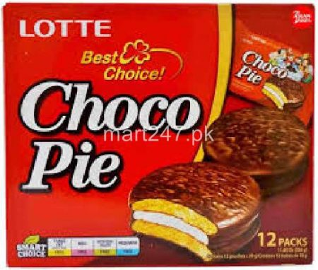 Lotte Choco Pie Biscuits 12 Pack