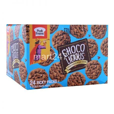 Peek Freans Choco Licious Double Chocolate Chip 25 Ticky Pack 1 Free Inside