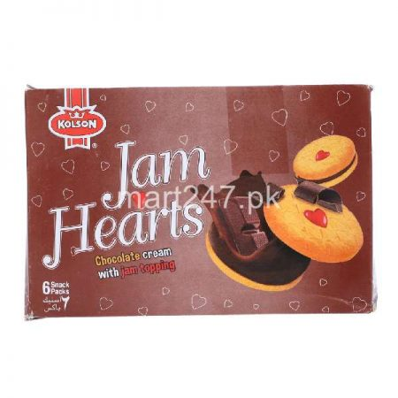 Kolson Jam Hearts Chocolate Cream Jam Topping 6 Snack Pack 6 Pack