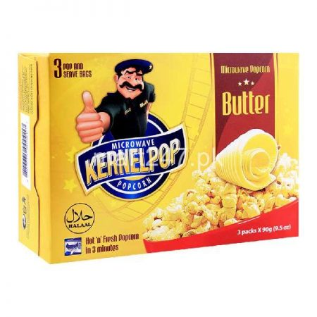 Kernelpop Butter Pop Corns 90 G 3 Pack Set