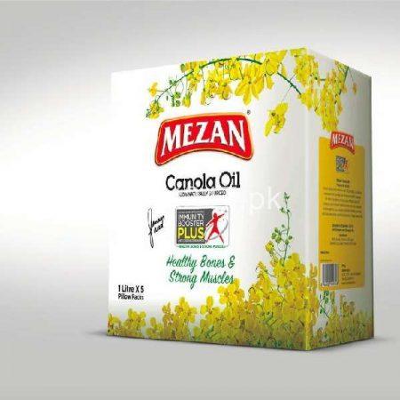 Mezan Canola Oil 1 L X 5