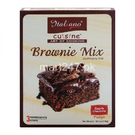 Italiano Brownie Mix Dark Chocolate Fudge 519 Grams