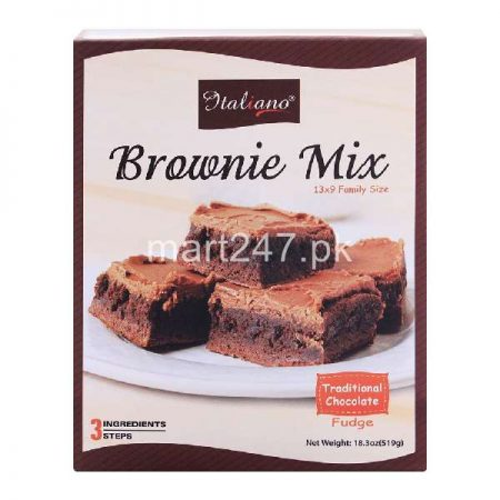 Italiano Brownie Mix Traditional Chocolate Fudge 519 Grams